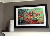 self matted framed print